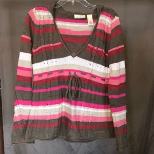 Striped babydoll sweater
